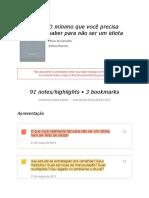 Notes From -O Mínimo Que Você Precisa Saber Para Não Ser Um Idiota