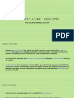 Letters of Credit - Concepts
