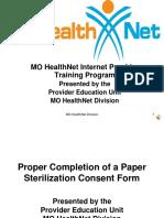 Sterilization Consent