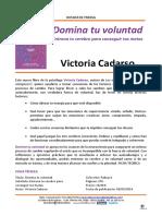 1462974658 Dossier de Prensa Libro Domina Tu Voluntad