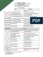 ET1544 - Mobile Application Development - Teaching Schedule