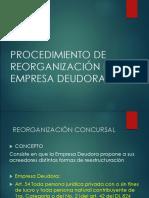 Reorganización Empresa Concursal