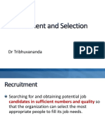 IHRM - Recruitment and Selection