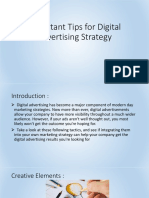 Important Tips for Digital Advertising Strategy