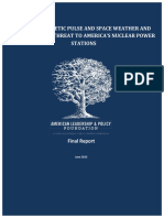 Electromagentic Pulse and Space Weather Final Report 2015