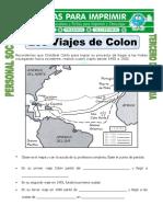 Ficha Viajes de Colon Para Tercero de Primaria