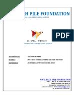Anchor Pile Load Test Methodology