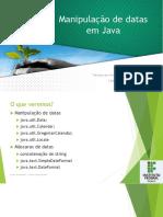 Manipulação de Datas Em Java