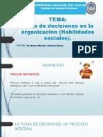 Toma de Decisiones en La Organización (Habilidades Sociales) (1)