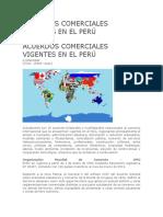 Acuerdos Comerciales Vigentes en El Perú