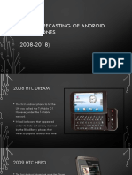 android smartphones from 2008- 2018