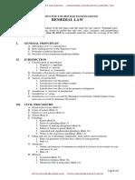 Syllabus for Bar Exam 2019_Remedial Law