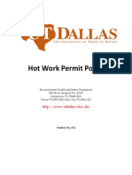 Hot Work Permit Policy