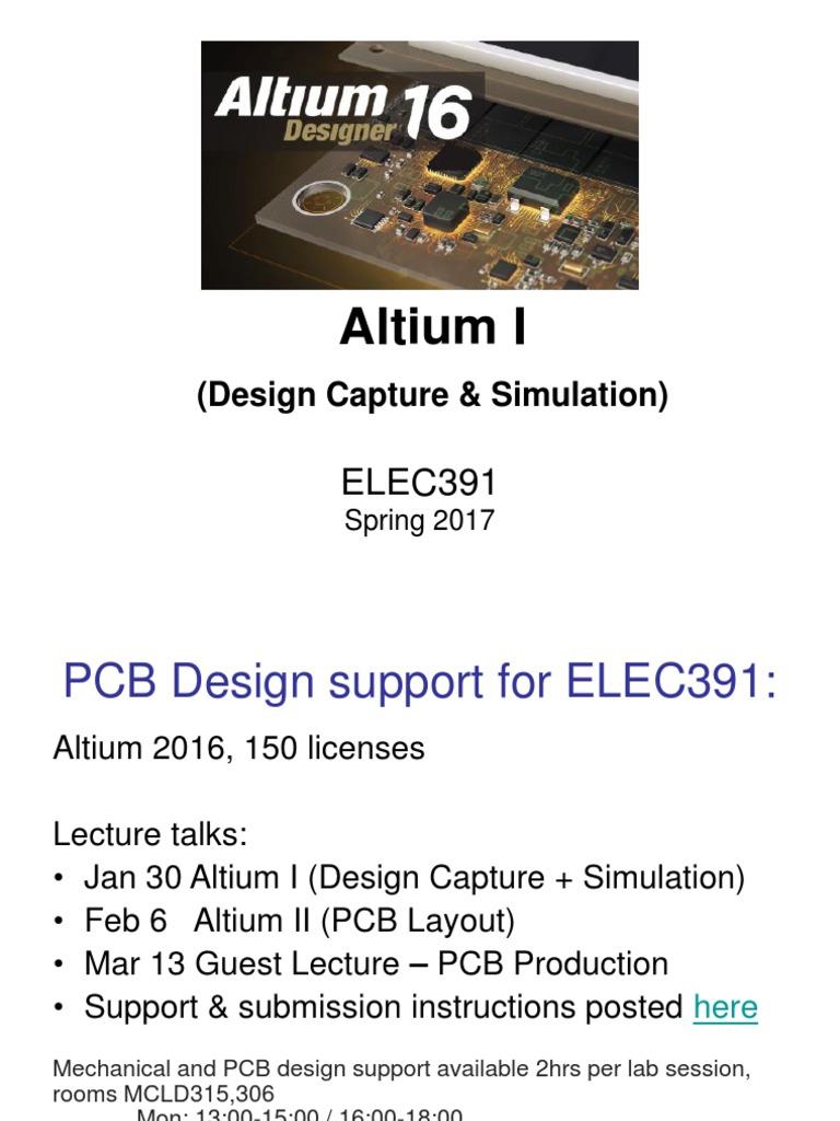 AltiumI_Schematics&Simulations_2017 pdf | Spice | Library (Computing)