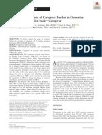 14.the Composit Measure of Caregiver Burden in Demensia