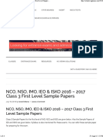 NCO, NSO, IMO, IEO & ISKO 2016 – 2017 Class 3First Level Sample Papers
