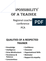 Pp Role of a Trainer