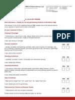 Galvanizing Checklist