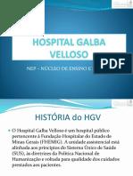 Aula 1 - História Da Psiquiatria Mineira HOSPITAL GALBA VELLOSO - Camila