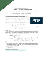 Exercise Dynamic programming