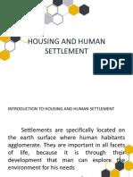 Housing and Human Settlement