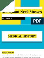 ENT D3 Group 3 - Malignant Neck Masses