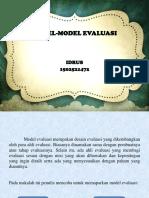 Ppt Model Model Evaluasi
