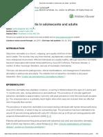 Seborrheic Dermatitis in Adolescents and Adults
