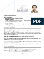 CV Anas Hattabou- 2009