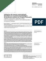 Validación del sistema automatizado bact/alert en el control microbiológico de productos celulares de terapias avanzadas
