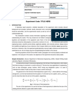 Formal Lab Report Template