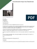 10 Decembrie 1985 Nota Informativa Despre Ioan Manastireanu