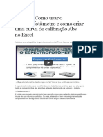 espetrofotometro calibração