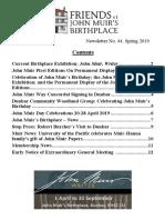 FoJMB Newsletter 2019 Spring