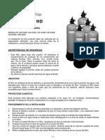 Hd Series Deep Bed Filter User Manual Spanish