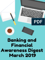 Banking & Financial Awareness Digest March 2019