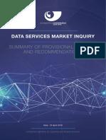 Data Services Inquiry Summary