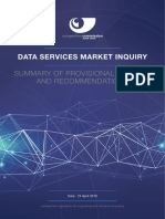 Data Services Inquiry Summary