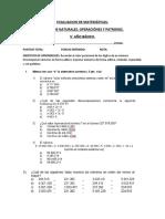 EVALUACION DE MATEMÁTICAS 5° AÑO ABRIL