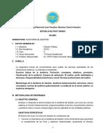 Silabo Del Curso de Auditoria de Gestión 2019 - I