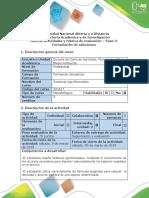 Guía de Actividades y Rúbrica de Evaluación- Paso 3- Formulación de Soluciones