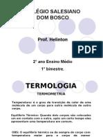Física PPT - Termometria