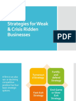 Strategies for Weak & Crisis Ridden Businesses