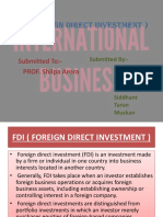 FDI ppt IB