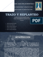 Trazo y Replanteo Final Exposicion