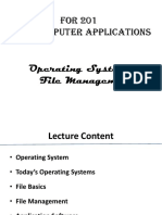 File Management and Operating Systems