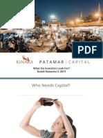 Investor Point of View - Kinara-Patamar