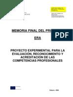Memoria Final Proyecto de ERA de Cualificaciones 2004
