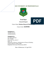 Research Proposal On Factors Influencing the Students to Choose Private Universities for Their Higher Education in Bangladesh