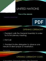 Flow of the Debate in Model United Nations